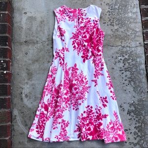 Jude Connelly dress pink floral fit and flare S